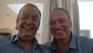 Selfie de Bertín Osborne y Javier Quero en Mi casa es la tuya Telecinco