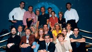 Equipo de La noche abierta de TVE2, presentado y dirigido por Pedro Ruiz