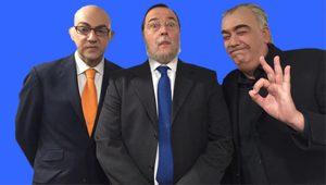Federico de Juan, Luis Ignacio González y Javier Quero en Los Teletipos de Telemadrid