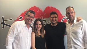 Javier Quero, María Lama, Xavi Rodríguez y Fede de Juan, parte del equipo de Las mañanas Kiss de Kiss FM